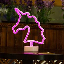 OHANEE Custom fit Señales de neón de unicornio, Letrero de luz de neón LED con base de soporte para fiesta de cumpleaños en casa Dormitorio Mesita de noche Decoración Niños en venta