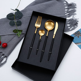 Knife Forks Australia - Hot Sale Dinner Set Cutlery Knives Forks Spoons Wester Kitchen Dinnerware Stainless Steel Home Party Tableware Set Dropshipping D19011702