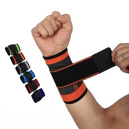 ed08829c0d Basketball Wristband Protector Sport Powerlifting Bracer Wrist Support  Sport Bandage Tennis Boxing Gym Weight Lifting Straps