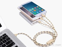 $enCountryForm.capitalKeyWord Australia - 2A Charger Cable 3 in 1 Cable 1M Long Strong Metal Housing Braided USB Charging for Iphone 6 7 8 X 9 V8 Samsung S7 S8 S9 Note 7 Type C Phone