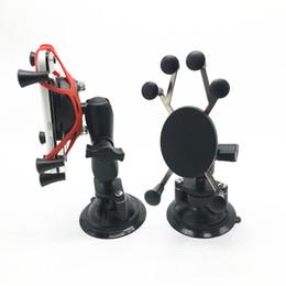 Автомобиль твист замок присоске + 1 дюйм длина и шарм с универсальным X-Grip держатель сотового телефона для смартфона для ram крепления