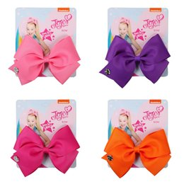 $enCountryForm.capitalKeyWord Australia - 5inch Pure Color Children Barrette Vintage Hair Bows Jojo Siwa Jewelry Children Bowknot Hairpin Popular Kids Clips Card Packed 2jf Ww
