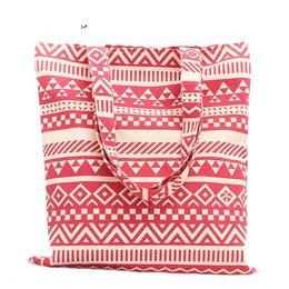 Ladies Handbag Fabric NZ - good quality National Striped Printed Women Cotton Canvas Handbags Ladies Casual Shoulder Shopping Bags Tote Bolsa Feminina Sac A Main