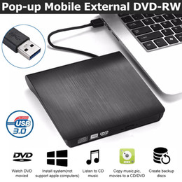 usb 3.0 external drive Australia - Portable ultra External CD DVD Drive USB 3.0 Optical Drive Burner Writer for Laptop Desktop Mac MacBook etc... For Free Shipping