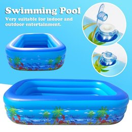 inflatable tub pool UK - 1.2m 1.3m  1.5m 1.8m 2.1m Inflatable Swimming Pool Adults Kids Pool Bathing Tub Outdoor Indoor Swimming