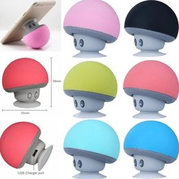 $enCountryForm.capitalKeyWord NZ - Wholesale Cute Portable Mushrooms Sucker Waterproof wireless Bluetooth Speaker Mobile Phone Car Holder Mini speaker Wireless BT Speaker