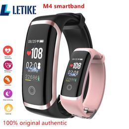 $enCountryForm.capitalKeyWord Australia - Letike M4 Fitness Tracker Newest Chip Nrf52832 Watch Real-time Dynamic Heart Rate & Blood Pressure Monitor Smart Bracelet Band J190522