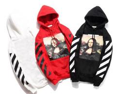 35b5ab8dff Off white black hOOdie online shopping - High quality brand off designer  Monla Lisa hoodie hip