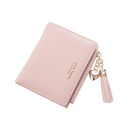 cash organizer wallet NZ - Pocket Fashion Women Wallet Short Credit Cash Coin Purse Card Holder PU Leather Folding Zipper Organizer Girls Mini