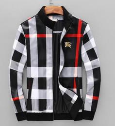 Ingrosso 2019 primavera e l'estate plaid colletto in piedi giacca nuova moda cappotto di plaid 3D moda boutique uomini di marca