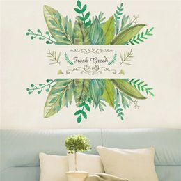 BaseBoard stickers online shopping - fresh green garden plant baseboard wall sticker home decoration mural decal Home living room bedroom decor