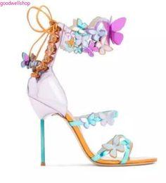 2018 hot sophia webster verano diseño de la mariposa sexy Tacones altos  peep toe sandalias mujeres bombas zapatos eadd81ad80c