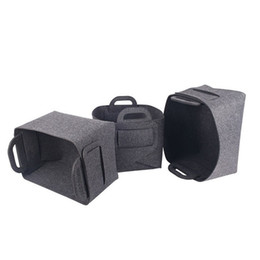 Wholesale customizable clothing for sale - Group buy Felt Storage Basket Dirty Clothes Storage Baskets Black Customizable Home Furnishing Sundries Store Bags New Arrival lk L1