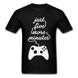 $enCountryForm.capitalKeyWord UK - Just Five More Minutes T-shirts Funky Men Tshirt Summer Fall Tops Shirts Casual T Shirt Crewneck Cotton Tees Gamer Clothes Black
