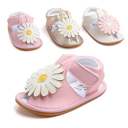 China Baby Girls sandals Summer Fashion Hard Sole Baby Shoes Infants Girls Flowers Prewalker Toddlers Baby Princess Shoes suppliers