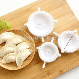 dumpling maker mold NZ - 50 sets Press Ravioli Dough Pastry Pie Dumpling Maker Gyoza Empanada Mold Mould Tool 3 Size Easy Eco Friendly Dumpling Mould