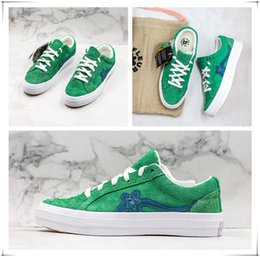 $enCountryForm.capitalKeyWord Australia - High Quality Creator One Stars and Golf le Fleur Suede Casual Canvas Shoes for Man Women Green Designer Zapatos Sneaker Skate Shoes