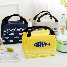 Cloths Storage Boxes Australia - 4 Colors Thermal Insulated Cooler Tote Bag Oxford Cloth Cartoon Print Zipper Picnic Lunch Drink Bag Portable Carry Case Lunch Box VT1358