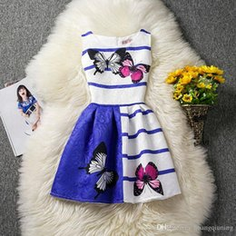 $enCountryForm.capitalKeyWord Australia - Casual New Girls Clothes Character Belted Print Dresses For Kids Girl Summer Sleeveless Butterfly Cartoon Girl Dress 12 Years Birthday Party