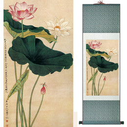 scroll paintings Australia - Birds And Flower Painting Home Office Decoration Chinese Scroll Painting Flower Painting 19041202