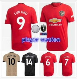 dbf0722c0 Player version 2019 United  6 POGBA Soccer Jerseys Home Red  7 ALEXIS  9  LUKAKU 19 20 Club Football Team Football Jersey Sport Shirt On sale