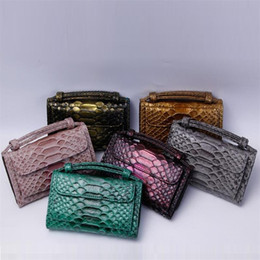 Discount genuine crocodile handbags wholesale - 2019 Brand Cow Genuine Leather Fashion Day Clutch One Chain Shoulder Cross-body Bag Small Crocodile Pattern Clutch Women