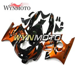 Motor Bicycles Australia - Hot Selling Gloss Orange Black Carenes for Honda CBR600F3 1997 1998 97 98 ABS Plastic Injection Outer Covering Motor Bicycle Carenados