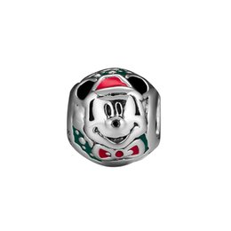 925 Sterling Charms Australia - 2018 Winter 925 Sterling Silver Jewelry Santa Charm Beads Fits European Bracelets Necklace For Women Jewelry Making