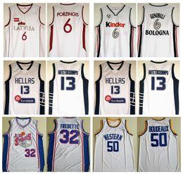 52e45de44 College Movie Basketball 32 Jimmer Fredette Jersey 13 Giannis Antetokounmpo  6 Manu Ginobili 6 Kristaps Porzingis 50 Butch Boudeaux
