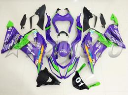 Zx 14 Fairing Purple Australia - New Abs Fairings Kit Fit for kawasaki Ninja ZX6R 636 599 2013 2014 2015 2016 2017 6R 13 14 15 16 17 ZX-6R Bodywork set cool Purple green