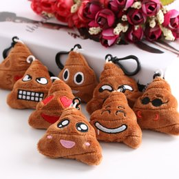 $enCountryForm.capitalKeyWord Australia - Lovely Emoji Smiley Emoticon Soft Stuffed Plush Poo Shape Keychain Jewelry Holder Desk Sets School Stationery Office Supplies
