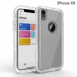 b95bcea391a Carcasa Clear Defender para iPhone Xs Max XR X 8 7 Plus 6 6S Cubierta de  servicio pesado para Samsung S9 + S8 Plus S7 edge Nota 9 8 Piel de armadura  híbrida ...