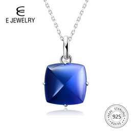 Blue tourmaline pendant online shopping - E Jewelry Blue Gradient Tourmaline crystal women Pendant Necklace sterling silver pendant for women Fashion gift New