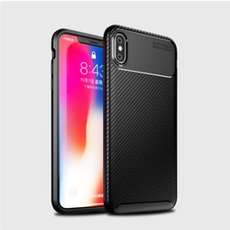 $enCountryForm.capitalKeyWord Australia - Fashion Soft Silicone Case For iphone XS MAX XR X Soft Silicone TPU Cover Carbon Fiber TPU Shockproof Case For iphone 7 8 Plus 6s 6