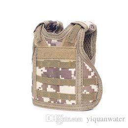 $enCountryForm.capitalKeyWord Australia - Tactical Beer Bottle Cover Mini Miniature Molle Vest Personal Bottle Drink Set Adjustable Shoulder Strap