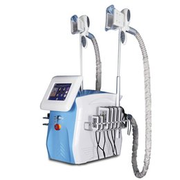 portable lipo cavitation machine UK - Portable fat freezing machine waist slimming cavitation rf machine fat reduction lipo laser 2 freezing head can work at the same time