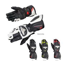 titanium gloves 2019 - Free shipping 1pair GK169 Mens Leather Gloves Motorcycle Riding Fiber Spring Summer Titanium Alloy Motorcycle Gloves che