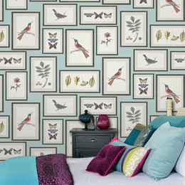 sound clothing UK - 3D art flower bird frame picture photo wallpaper PVC waterproof Living room bedroom clothing store office TV walls papel de parede