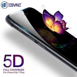 Toptan satış 5d temperli cam iphone 7 için cam 6 s artı ekran koruyucu için iphone 6 cam tam kapak filmi kavisli kenar