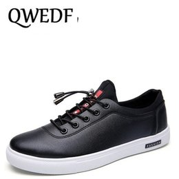 f86cf6f22 QWEDF 2018 New Fashion metal decoration sneaker shoes Elastic band Men s  casual shoes soft Comfortable Driving flat CC-033  7376