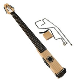 China In Stock NEW ARRIVAL Mini & Mute Guitar, Acoustic guitar with EQ, Maple neck & body, Gloss Finish Natural Color, Bone Nut supplier acoustic guitar bone nut suppliers