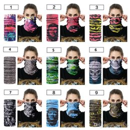 Sweat Scarves Australia - New headscarf Outdoor riding collar scarf Sport bicycle mask Sweat Multifunction seamless Scarf Good elasticity T4H0390