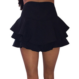 a05043ac85 2019 Fashion Summer Women Frill Ruffle Pleated Empire Mini Skirt Shorts  School Girl Skater Skirt Sweet Womens Shorts 7 Color