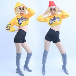 $enCountryForm.capitalKeyWord Australia - Jazz Performance Dance Costumes Hooded Sweater Suit Sexy Nightclub Dj Female Singer Costume Stage Hip Hop Dance Clothes DWY2031