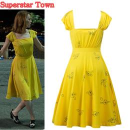 $enCountryForm.capitalKeyWord NZ - 's Clothing La La Land Emma Stone Mia Cosplay Yellow Elegant Ladies Beauty Women Long Party Dresses Summer Style Women Dresses Costumes