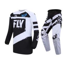 $enCountryForm.capitalKeyWord NZ - New Fly Fish Black Hi-Vis F-16 Jersey & Pant Combo Set MX ATV BMX MTB '18 Gear Dirt Bike Racing