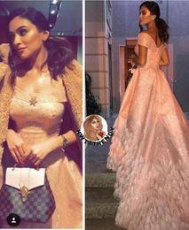 $enCountryForm.capitalKeyWord Australia - Evening dress Yousef aljasmi Labourjoisie Zuhair murad A-Line Short Sleeve Off-Shoulder Sequined Sequins Feather Long Dress James_paul