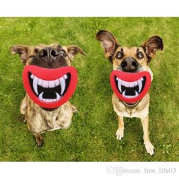 Making Toys Sound Australia - Free Shipping New Durable Safe Funny Squeak Dog Toys Devil's Lip Sound Dog Playing Chewing Puppy Make The Dog Happy