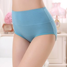 bamboo panties wholesale NZ - Breathable Women High Waist Menstrual Period Panties Lady Widening Leakproof Bamboo Fiber Physiology Underwear Multicolor 2019