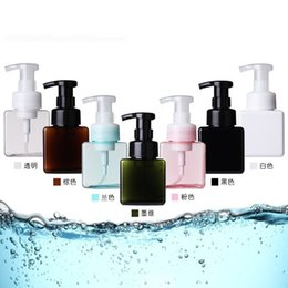 $enCountryForm.capitalKeyWord Australia - Press Facial Cleanser Bottle Woman Four Square Mousse Foam Bottles Girls Plastic Cosmetic Jars Hot Selling 3 38ll L1